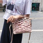 斜背包包包女新款潮仙女個性鏤空手提包復古單肩斜挎子母包 快意購物網