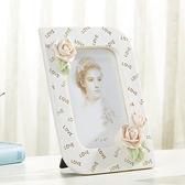 618好康鉅惠 韓式相框擺臺6寸六寸白色相架個性照片框
