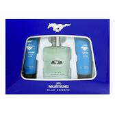【FORD】MUSTANG 福特野馬 藍調 男性淡香水 禮盒(淡香水100ml+沐浴膠100ml+鬍後乳100ml)