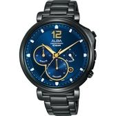 ALBA 雅柏 Tokyo Design 年度限量計時手錶-藍x鍍黑 VD53-X321SD(AT3E21X1)