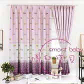 窗簾成品現代簡約遮光布料印花短簾臥室客廳公寓窗簾簡易窗簾半簾