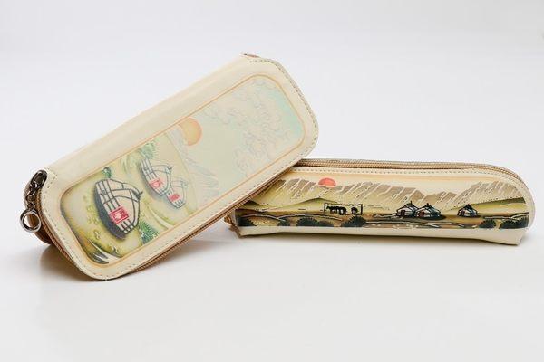 純手工牛皮鉛筆盒