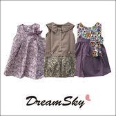 泰國兒童公主拼布點點綁帶蝴蝶結碎花 洋裝  女寶 洋裝 童裝 DreamSky