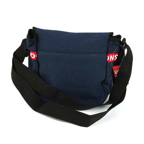 SNOOPY文字織帶鑲飾棉布郵差包/斜背包(藍)★funbox★Marimo_FT33293