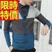 假兩件式襯衫 隨意舒適-精緻簡單長袖男毛衣3色59ac34[巴黎精品]