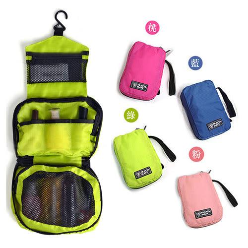 【收納包】韓版化妝包-可攜式吊掛盥洗包/旅行包/收納包/收納袋/萬用包 (隨機)