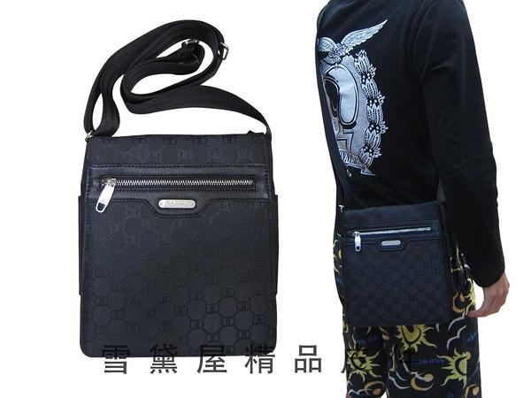 ~雪黛屋~DANDY 肩側包小容量隨身物品可肩背可斜側背防水尼龍布+皮革材質隨身小包D1276