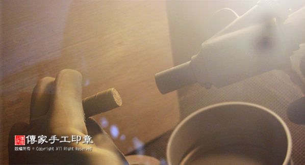 半手工噴砂玉石印章的製作過程 ※※ 情人章,客製化印章,印相學,印章設計,落款章