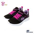 Skechers童鞋 女童運動鞋 輕量運動鞋 MICROSPEC 跑步鞋 慢跑鞋 魔鬼氈 V8289#黑色◆OSOME奧森鞋業