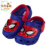 《布布童鞋》Marvel英雄系列蜘蛛人藍紅色發光電燈布希鞋(16~21公分) [ B7K516B ] 藍色款