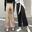 DE SHOP~休閒褲子女寬鬆顯瘦時尚氣質學生高腰直筒九分闊腿褲 (XA-5580)