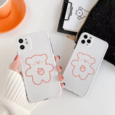 蘋果 iPhone 11 Pro Max XR XS MAX iX i8+ i7+ 草莓熊波浪殼 手機殼 全包邊 可掛繩 保護殼