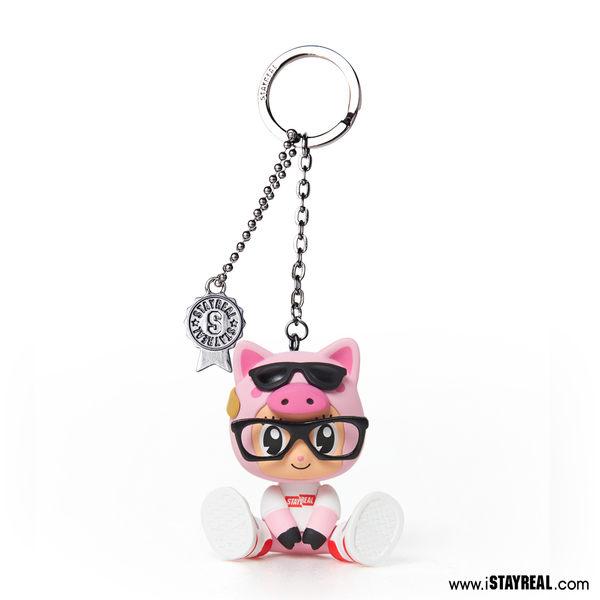 STAYREAL 噗~豬豬鼠小小公仔鑰匙圈 - 粉紅