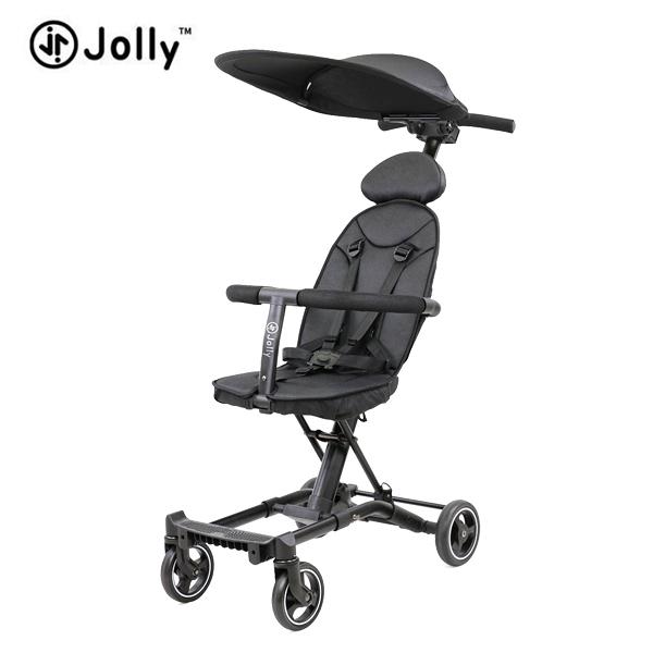 英國 JOLLY 輕便摺疊手推車-尊爵版(黑) ●贈 收納袋+肩背袋+遮陽蓬+連接器(送完為止)