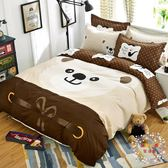 交換禮物-簡約床上用品四件套學生卡通宿舍1.2m床單式雙人被套1.5米4三件套