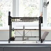 【Effect】廚房不鏽鋼伸縮瀝水置物架(延伸58~92cm)瀝水架