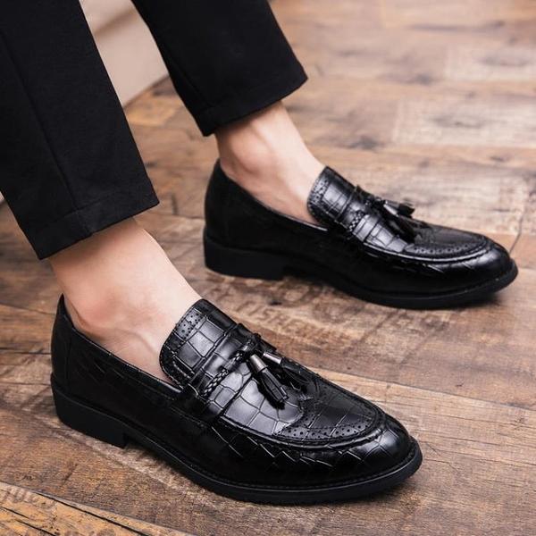 新款夏季男鞋子婚禮結婚小皮鞋