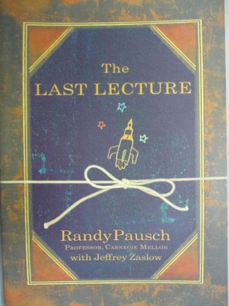【書寶二手書T8/心理_GNS】The Last Lecture_PAUSCH