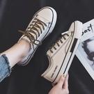 2021年春季小白鞋女學生春秋新款帆布鞋ulzzang韓版百搭板鞋ins潮