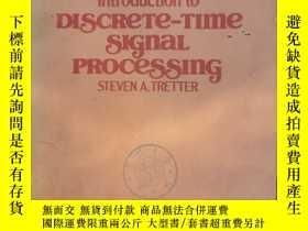二手書博民逛書店introduction罕見to discrete-time signal processing(P2361)