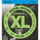 【敦煌樂器】DAddario EXL165 45-105貝斯五弦套弦