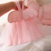 夏韓版女童天使翅膀連身裙女寶寶網紗公主裙純棉兒童吊帶蓬蓬裙萌