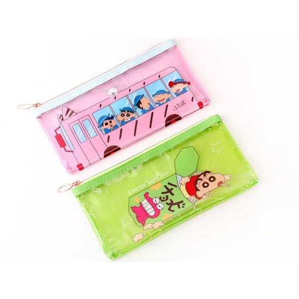 蠟筆小新果凍透明筆袋(1入) 娃娃車/鱷魚餅乾 2款可選【小三美日】