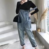 吊帶褲 網紅牛仔背帶褲女韓版寬鬆2020年春秋新款時尚小個子套裝洋氣減齡 原本良品