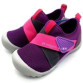 《7+1童鞋》中童 MOONSTAR 日本月星 魔鬼氈 透氣 機能鞋 運動鞋 C439 紫色