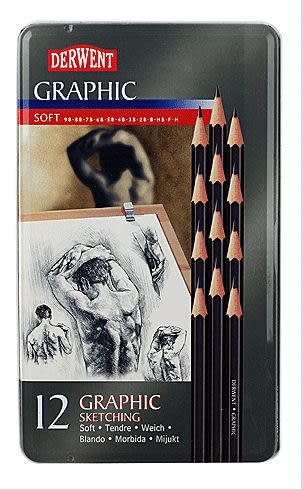 Derwent 達爾文 Graphic系列專業石墨繪圖鉛筆/12支入*34215