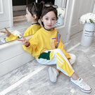 2019新款秋裝女童運動套裝韓版兒童洋氣衛衣兩件套春秋季小孩衣服