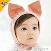 嬰兒帽子0-3-6-12個月新生兒胎帽純棉男女寶寶護腦門鹵囟門帽春秋 焦糖布丁