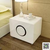 床頭櫃 床頭櫃簡約現代臥室儲物收納櫃子組裝邊櫃白色烤漆床頭櫃整裝迷你 MKS聖誕免運