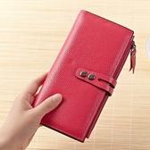 皮夾(長夾)-純色時尚簡約兩折壓扣女零錢包4色73eb32【時尚巴黎】
