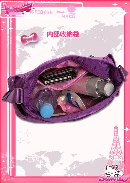 Hello Kitty-逸緻之旅側背包 中-紫 KT00B10PL