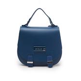 Petite Jolie  時尚名媛果凍馬鞍雙肩背包-蔚藍色