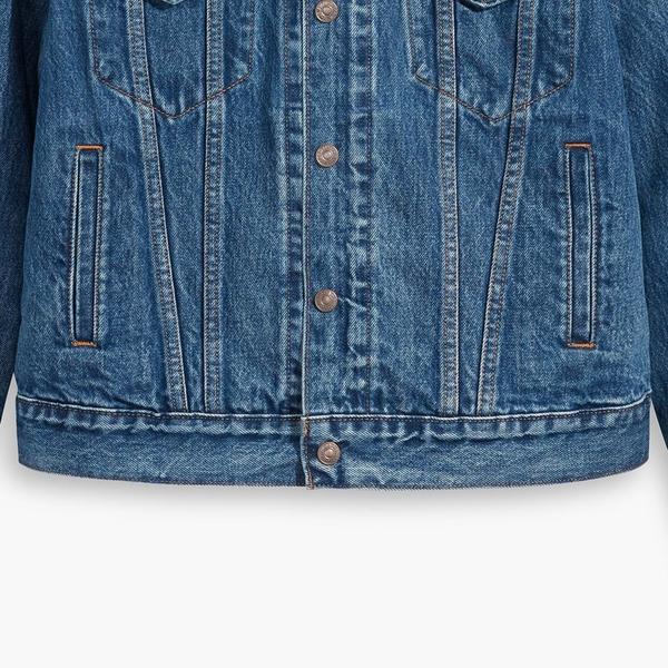 Levis 女款 3合1鋪棉牛仔外套 / 精工中藍染水洗 / 內裏可拆