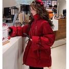 羽絨服 女2020新款亮絲中長款小個子冬季加厚學生網紅外套潮【新年禮物】