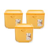 (組)日本IRIS 磁吸整理箱黃M寬38X深42X高31.3cm-3入