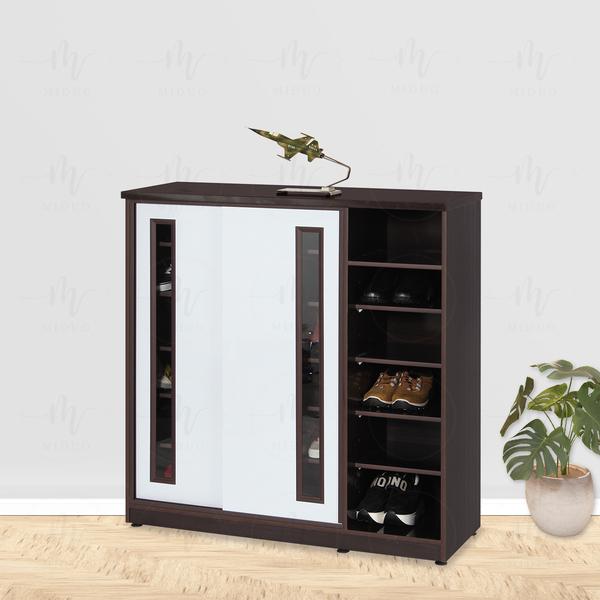 【米朵Miduo】3.6尺壓克力拉門半開放塑鋼鞋櫃 防水塑鋼家具