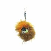 FENDI 黃x棕色小怪獸毛球吊飾 鑰匙圈 Bum Charm 【二手名牌BRAND OFF】