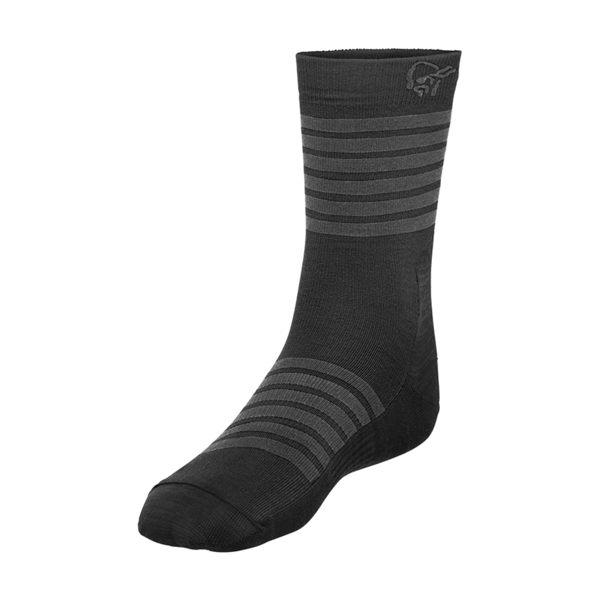 Norrona 老人頭 falketind Light Weight Merino Socks 美麗諾羊毛健行襪 高貴黑