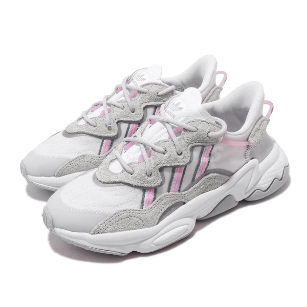 【六折特賣】adidas 休閒鞋 Ozweego W 灰 粉紅 女鞋 老爹鞋 運動鞋 【ACS】 EG8729