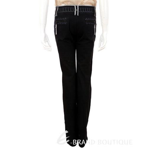 ROBERTA SCARPA 黑色織紋設計長褲 0620834-01