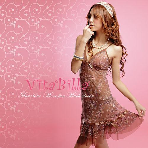 【伊莉婷】VitaBilla 魔幻新娘 睡裙+小褲 二件組