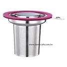 金時代書香咖啡 Tiamo tea time不鏽鋼蓋濾網組 通過SGS 粉紅色 HG1751PK