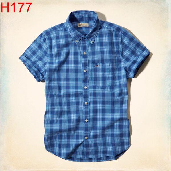 HCO Hollister Co. 男 當季最新現貨 短袖 襯衫 Hco H177