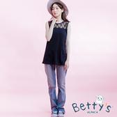 betty's貝蒂思 刷舊中直筒牛仔褲(深藍)