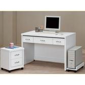 書桌 電腦桌 CV-631-6 白色4尺書桌 (不含其它產品) 【大眾家居舘】