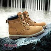 工裝靴真皮中幫鞋馬丁靴頭層牛皮短靴英倫